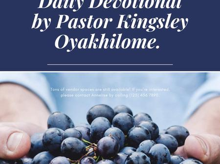 Fruits of life daily devotional: Prayer- key to possession