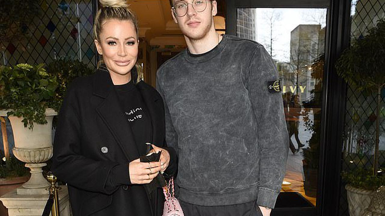 Olivia Attwood cuts a stylish figure in all-black as she enjoys a swanky lunch at The Ivy in Manchester with her brother Max