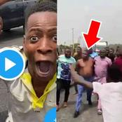 Moment Security Operatives Allegedly Tried To Arrest Sunday Ighoho At The Ibadan/Lagos Road(Video)