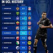 UEFA Champions League Highest Away Wins In The History, See The Clubs In The Top 10 List