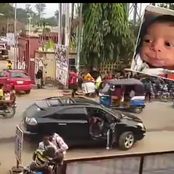 Ladies please be careful; see how a car dropped off a lady and sped off, the lady ran mad instantly