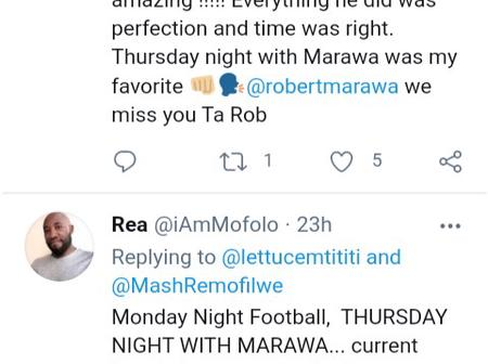 Read what people are saying about Robert Marawa