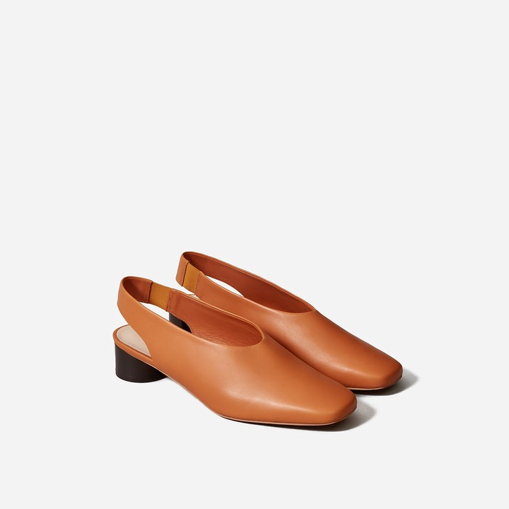 You Need to Wear This 50% Off Leather Slingback on the 1st