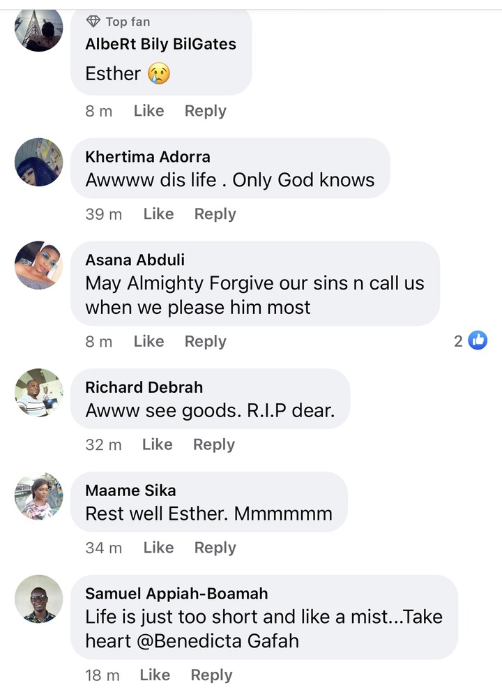 6fc9c28b7ac5360509808999d8846dd3?quality=uhq&resize=720 - Sad: Benedicta Gafah shed tears As She mourns her sister who was reported dead In A Fatal Accident (Photos)