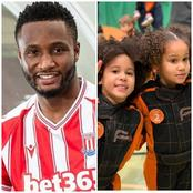 Mikel Obi Shows Off His Daughters As They Practice Playing Lawn Tennis (Photos)