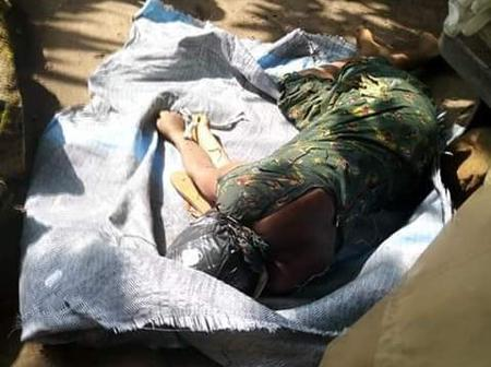 Lady Killed, Stacked In Bag And Dumped Along The Road By Ritualists In Abia State - (See Photos)