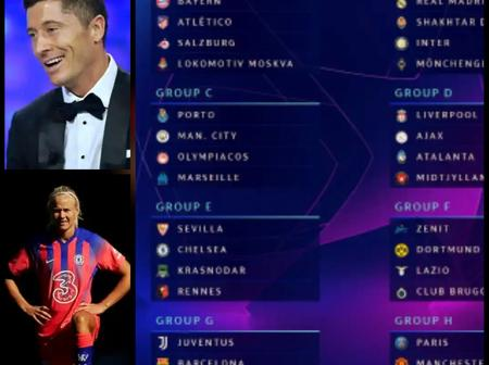 Uefa Champions League draw in full And winner of the Men's Best Player, women and Coach of the Year