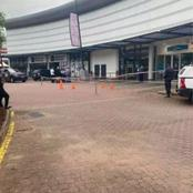 Sad: a man got shot outside the bank during a bank robbery