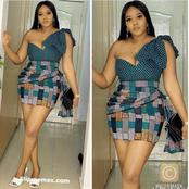 Elegant Short Ankara Gown Every lady will Love to Wear To Party
