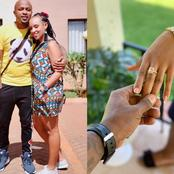 Kenyan Top DJ Creme De La Creme Finally Proposes To His Long-Term Girlfriend Denise (Photos).