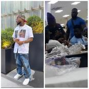 (Video): Davido collects someone's wristwatch at an event to allegedly check if it is original
