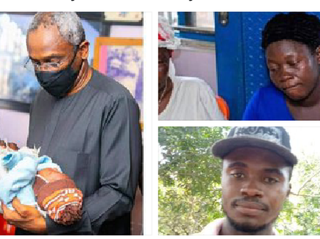 Femi Gbajabiamila visits family of vendor shot dead by his Security aide.