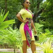 Amazing Ankara plain and pattern for ladies with short nick