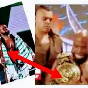 Video:See What Nigerian Wrestlemania Fighter Said After Winning Championship Belt