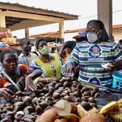 Législatives/c'est chaud à Touleupleu :Anne Ouloto fait sa campagne avec un panier en mains...