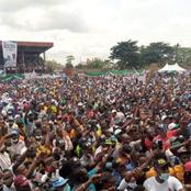 See Photos Of Crowd At APC Flag Off Campaign As Oshiomhole, El Rufai And Other Dignitaries Attended