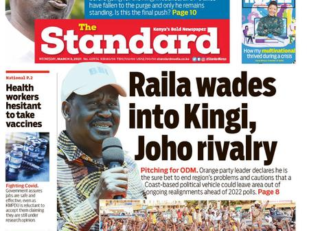 Daily Nation, The standard And Star Newspaper Headlines Review