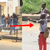 See The Moment Bullets Refuses To Penetrate As Port Harcourt Police Shoots At Youths [VIDEO]