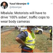 Mbalula: Motorists will have to drive '100% sober', traffic cops to wear body cameras
