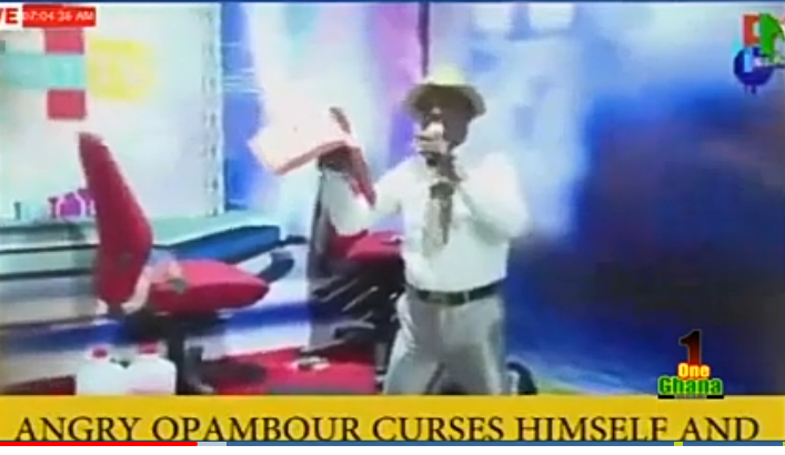 70d6e7fd3bb8e5bda22cf9f7be2ece21?quality=uhq&resize=720 - You will die on Live TV if you continue to curse - Prophet Elijah warns Opambour after he cursed with the Holy Bible