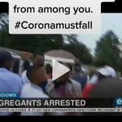 Watch: Pastor and congregates arrested for an unregulated gathering