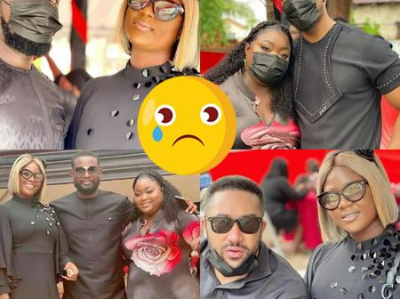 (Photo)Sad:Ghanaian Actors And Actresses Joins Their Colleague Eddie Nartey At His Dead Wife Funeral