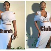Pics: Young Nigerian Lady Designs Another Dress That Can Be Restyled And Worn On Different Occasions
