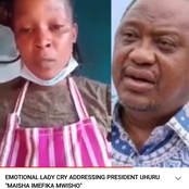 Emotional Lady Sends Passionate Appeal to President Kenyatta