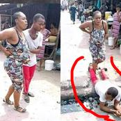 Pregnant Woman Was In Labour And Couldn't Cross The Drainage, But The Husband Decided To Help