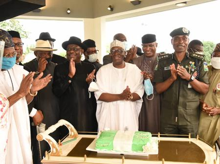 Photos: Wike Organied A Surprise Birthday For Chief Of Staff To President Buhari