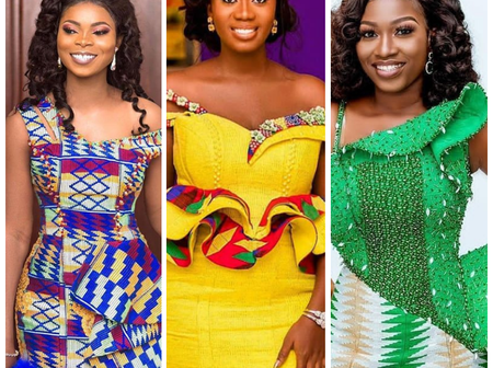 Classy And Beautiful Celebrity Kente Outfits To Rock On Your Traditional Wedding Day (Photos)