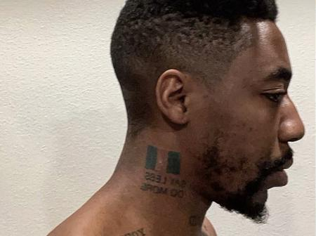 Mixed reactions as Canadian rapper Dax tattoos a Nigerian flag on his neck and confirms his origin.
