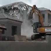 It ended in tears for a woman after his boyfriend demolished a house he built for her