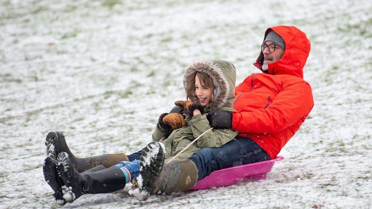 In Pictures: Fun for some as cold snap brings perfect sledging weather