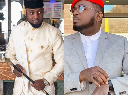 Kelly Hansome and Comedian AY clash over his post about Tunde Ednut's banned Instagram page.