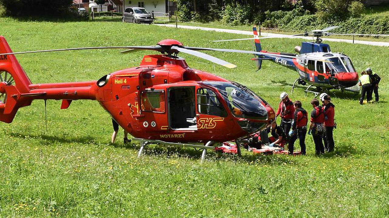 Bei Finkenberg abgestürzt: Schwer verletzt