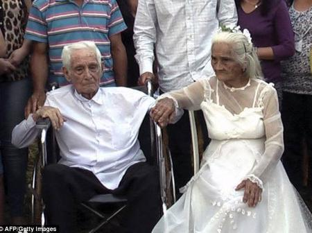 103-Year-Old Man Finally Marries His 99-Year-Old Bride After Living With Her For 80 Years (Photos)
