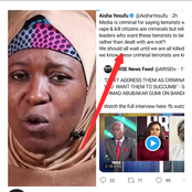 See Aisha Yesufu's Reply After Sheikh Gumi Said Media Should Stop Tagging Bandits As Criminals
