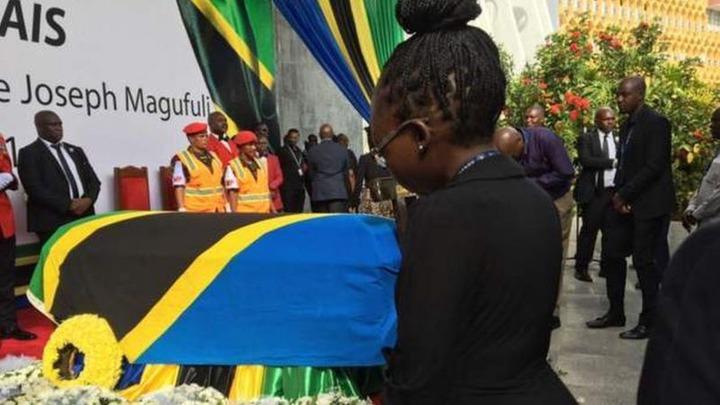71b813445e544912aef6ab08042124eb?quality=uhq&resize=720 - Day 2: Sad Scenes From Tanzania As Their President, John Magufuli Funeral Rites Proceeds - Photos