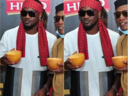 Rudeboy And Osuofia Celebrate Their Culture With A Calabash On Their Hand (Photos)