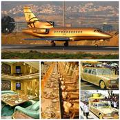The man owns the only golden jet in the world and 7000 cars , see his net worth