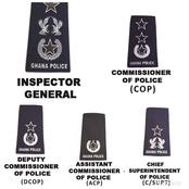 The Ghana Police Service Ranks and Their Symbols; This Is what It Means When You See These Symbols