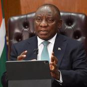 Just in: Ramaphosa Speech. Level 1.