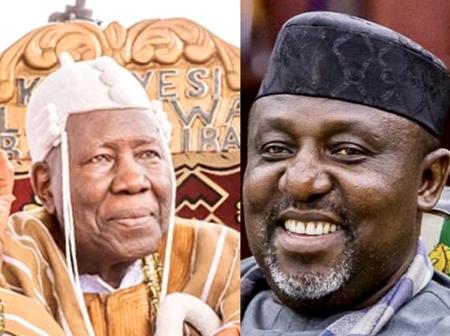 Check Out Photo Of Yoruba King That Honoured Rochas Okorocha Recently