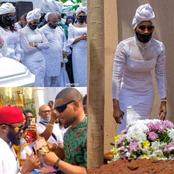 See the Moment Alex Ekubo and Chief Imo were Spraying Money on Ebube Nwagbo during her mum's burial