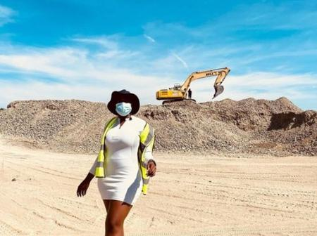 Is Asavela Mgqithi working on a Construction company- See her recent pictures