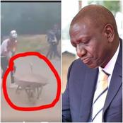 DP Ruto's Team Reveals Why Alleged 'Paid' Youths With Old Wheelbarrows Were Chased Away in Nyeri -VIDEO