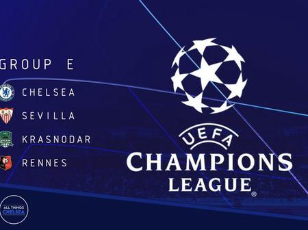 Chelsea handed decent UCL group stage draw