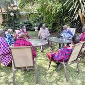 Raila Given A Precious Gift By The Maasai Elders Who Visited Him In Karen