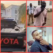 BBN's KiddWaya Receives The Delivery Of A Cow Gifted To Him By A Fan For His Birthday (Photos)